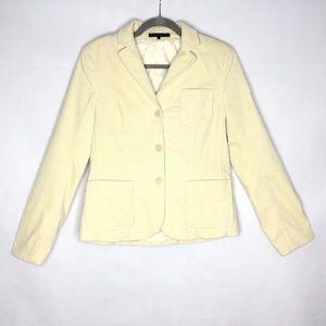Theory Corduroy Blazer Jacket Cream Off White